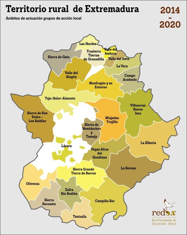 Mapa De Extremadura Comarcas.Informacion Territorial