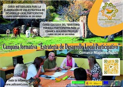 Acciones formativa en la estrategia de desarrollo local participativo de la comarca Miajadas-Trujillo title=