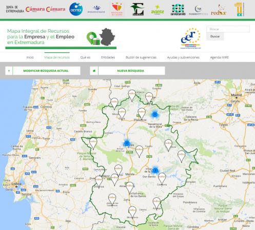 Mapa Integral de Recursos para la Empresa y el Empleo title=