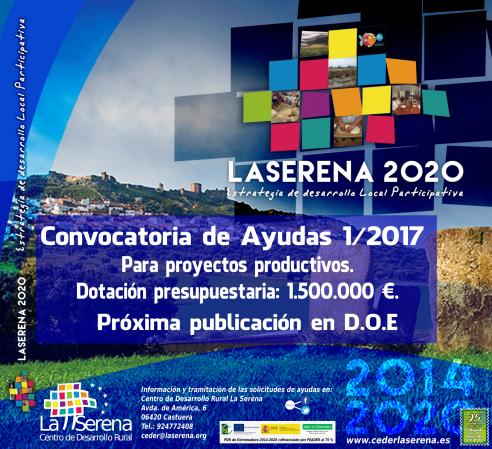 Presentación Pública Convocatoria de Ayudas LEADER 1/2017 CEDER LA SERENA