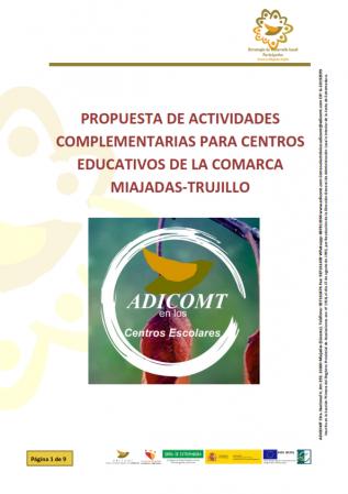ADICOMT PLANTEA MÁS IMPLICACIÓN Y COLABORACIÓN CON LOS CENTROS EDUCATIVOS DE LA COMARCA