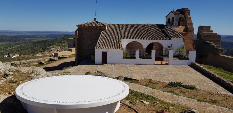 El Ceder Campiña Sur instala un Mirador Celeste en la Alcazaba de Reina title=