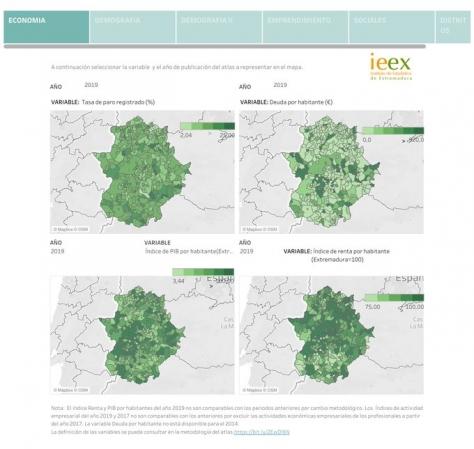 El Instituto de Estadística de Extremadura ha publicado el Atlas socioeconómico de Extremadura 2019 title=