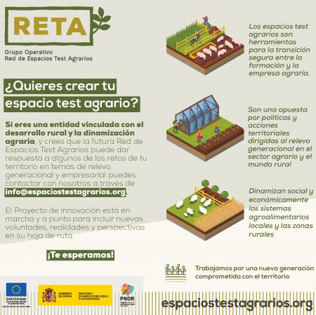 """El Grupo Operativo RETA publica la """"Guía metodología para la creación de espacios test agrarios"""" con pautas para la implementación de esta iniciativa en España"""