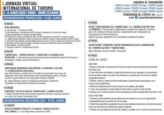 ADICOMT participa como ponente en una Jornada virtual: Dinamizar el turismo rural a través del turismo ecuestre
